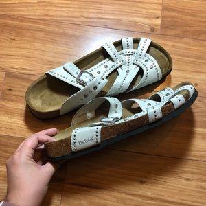 Birkenstock Betula White Studded Sandal